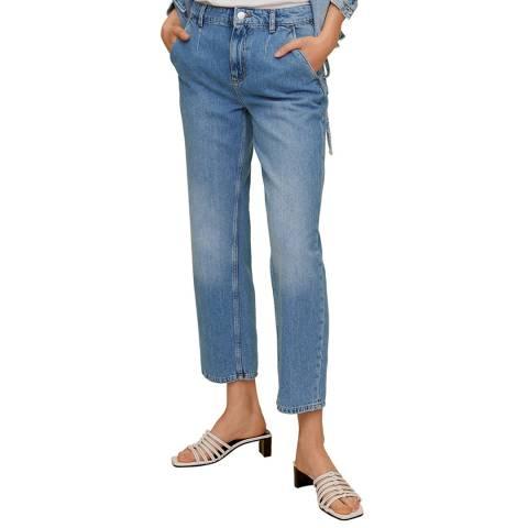 Mango Medium Blue Cotton Jean