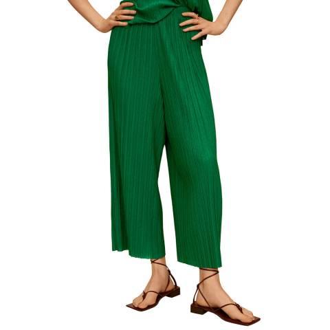 Mango Green Pleated Culotte Trouser