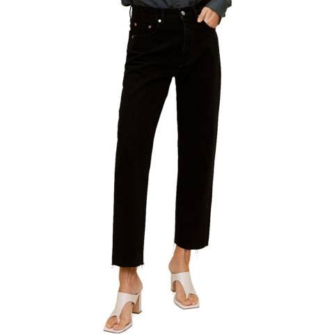 Mango Black Denim Cotton Jean