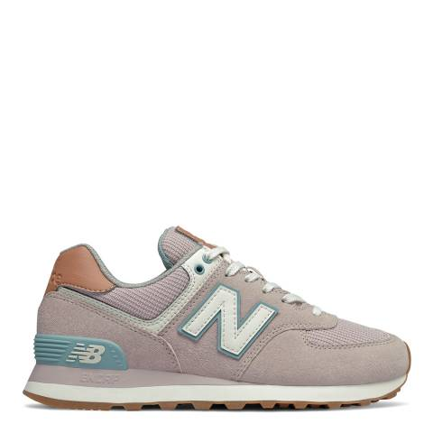 New Balance Light Pink 574 Trainers