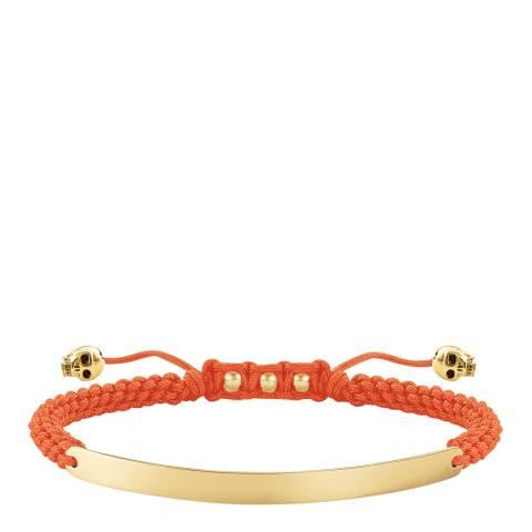 Thomas Sabo Orange Love Bridge Skull Bracelet