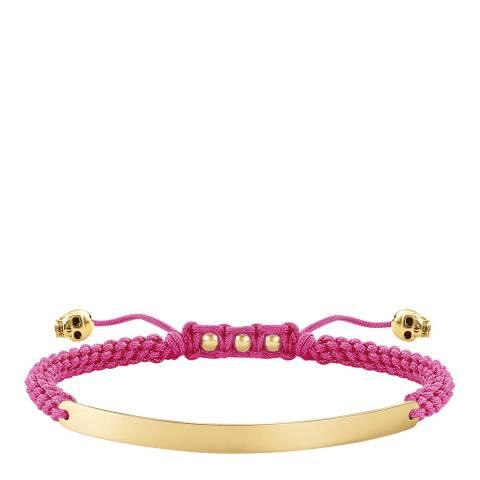 Thomas Sabo Fuchsia Love Bridge Skull Bracelet