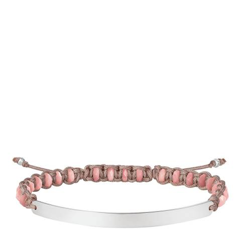 Thomas Sabo Pink Silver Bridge Bracelet