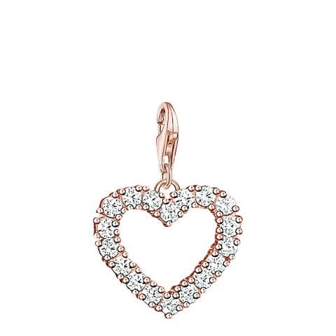 Thomas Sabo Rose Gold Heart Charm Club Pendant
