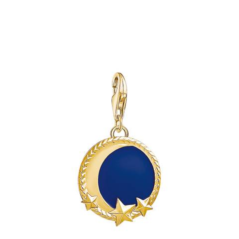 Thomas Sabo Gold Blue Moon Charm Club Pendant