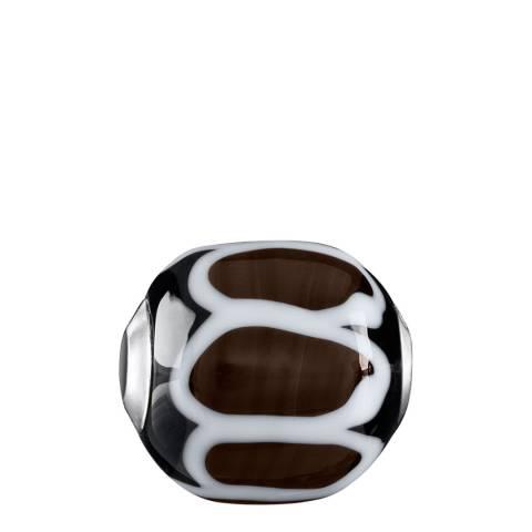 Thomas Sabo White Black Glass Karma Bead