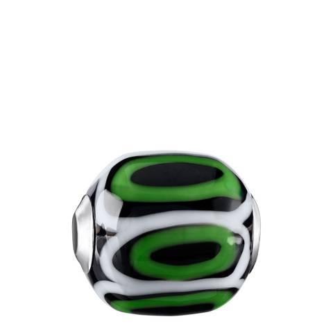 Thomas Sabo Green Black Glass Karma Bead