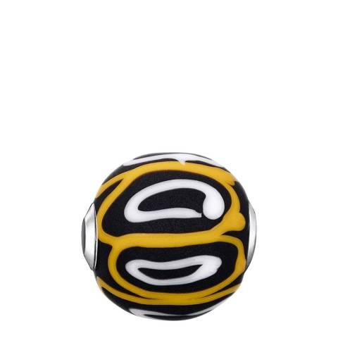 Thomas Sabo Yellow Black Glass Karma Bead