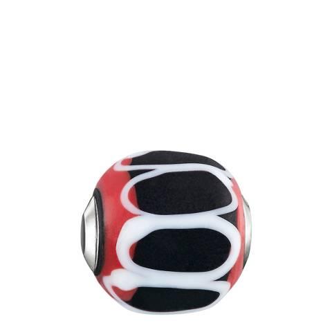 Thomas Sabo Red Black Glass Karma Bead
