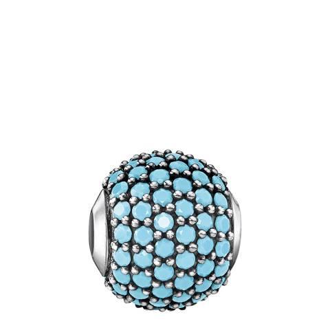 Thomas Sabo Silver Turquoise Pave Karma Bead