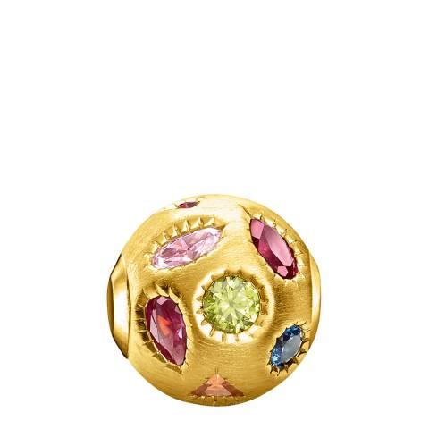 Thomas Sabo Gold Colourful Stones Karma Bead