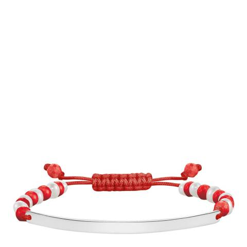 Thomas Sabo 925 Sterling Silver Red Bar Bracelet