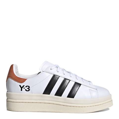 adidas Y-3 White/Black Hicho Leather Sneakers