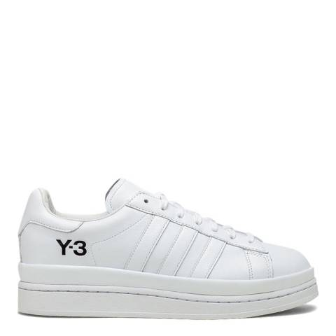 adidas Y-3 White Hicho Leather Sneakers