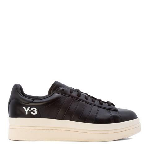 adidas Y-3 Black Hicho Leather Sneakers