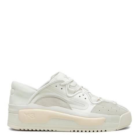 adidas Y-3 White Hokori II Low-Top Suede Sneakers