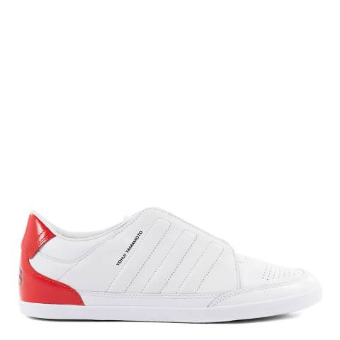 adidas Y-3 White Honja Low Leather Sneakers
