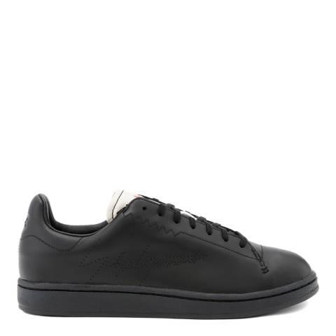 adidas Y-3 Black Yohji Court Leather Sneakers