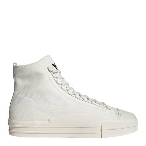 adidas Y-3 White Yuben Mid Sneakers
