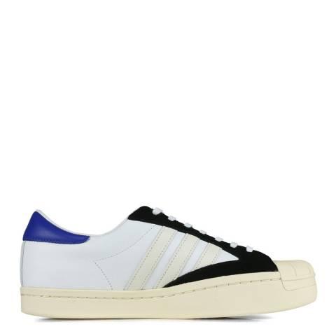adidas Y-3 White/Black Yohji Star Leather Sneakers