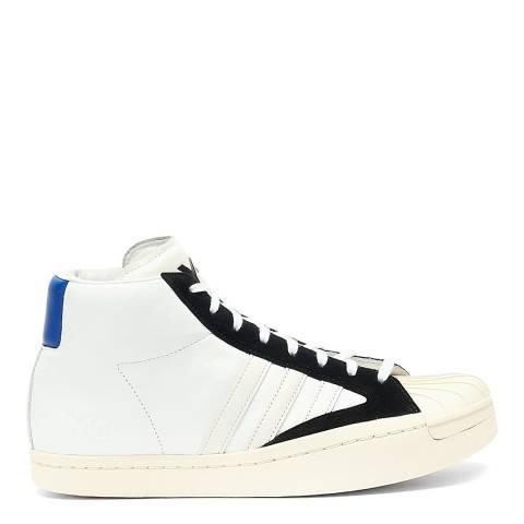 adidas Y-3 White/Black Yohji Pro Leather Sneakers