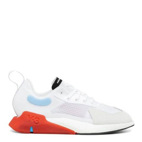 adidas Y-3 White/Red Orisan Translucent-Mesh Sneakers