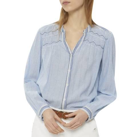 Gerard Darel Blue Striped Cotton Tunic