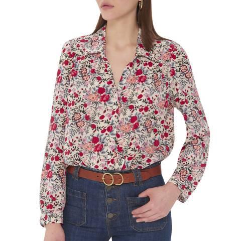 Gerard Darel Multi Patterned Lightweight Silk Shirt