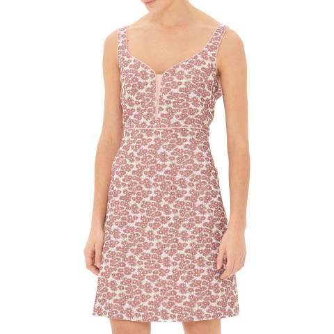 Gerard Darel Pink V Neck Mini Dress