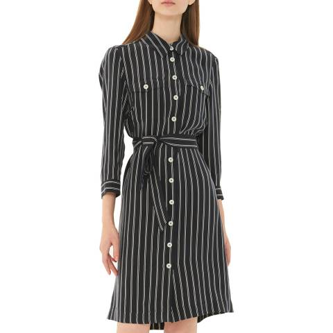 Gerard Darel Navy Striped Shirt Dress