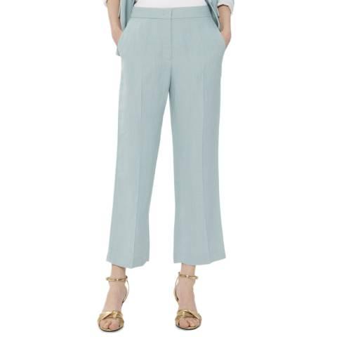 Gerard Darel Light Blue Linen Blend Trousers