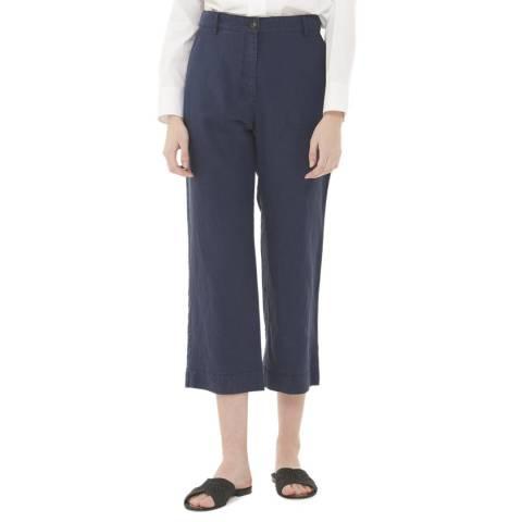 Gerard Darel Navy Linen Blend Trousers