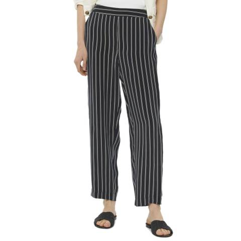 Gerard Darel Navy Striped Wide Trousers