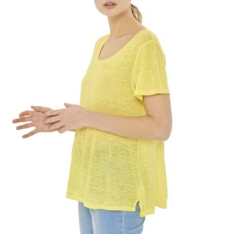 Gerard Darel Yellow Linen T-Shirt