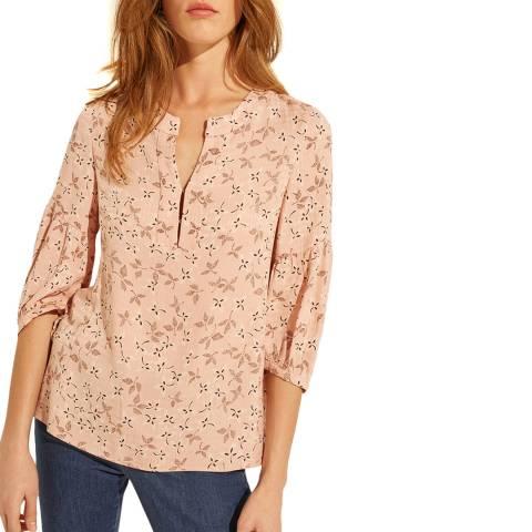 Gerard Darel Pink Floral Print Blouse