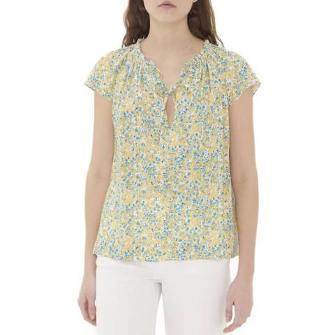 Gerard Darel Yellow Floral Print Top