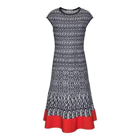 Gerard Darel Blue Short Sleeved Dress
