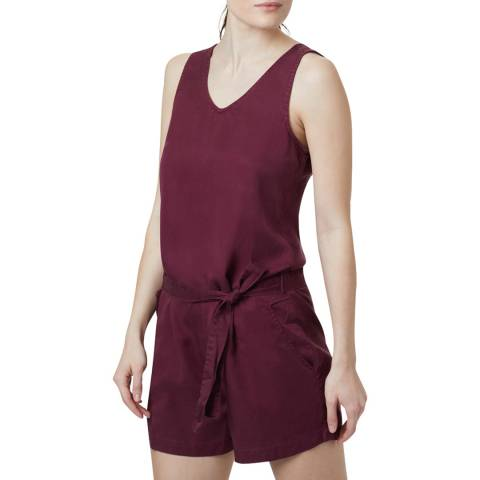 TENTREE Red Sleeveless Short Jumpsuit