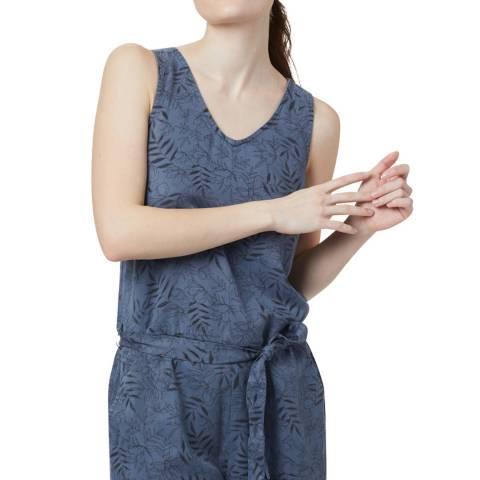 TENTREE Blue Sleeveless Short Jumpsuit