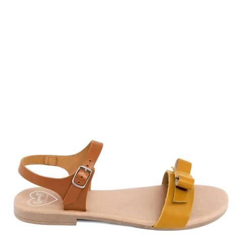 Romy B Brown Leather Bow Sandal