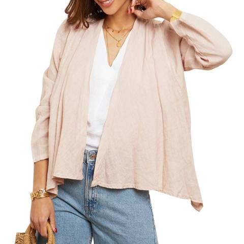 LE MONDE DU LIN Pink Linen Jacket