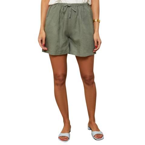 LE MONDE DU LIN Kharki Linen Shorts