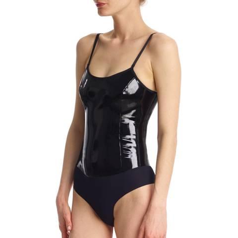 Commando Black Patent Cami Body Suit