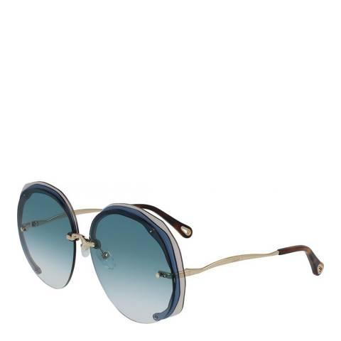 Chloe Women's Blue/Gold Chloe Sunglasses 63mm