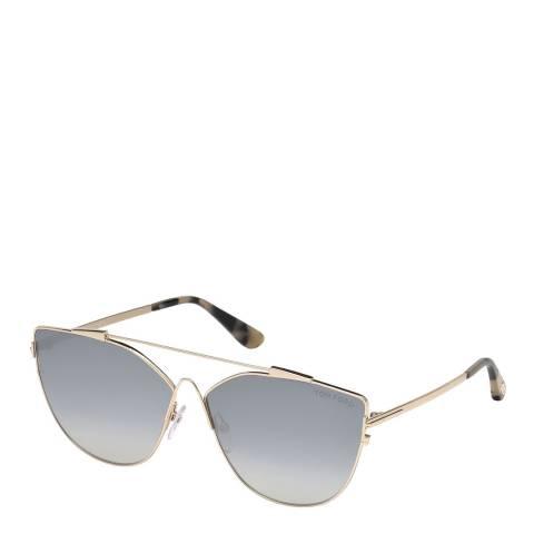 Tom Ford Women's Blue/Gold Tom Ford Sunglasses 64mm