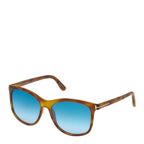 Tom Ford Women's Brown/Blue Tom Ford Sunglasses 56mm