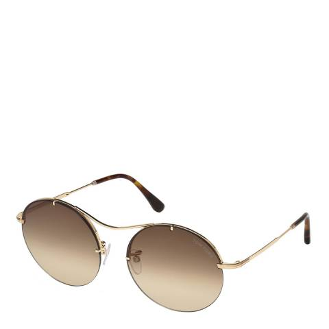 Tom Ford Women's Brown/Gold Tom Ford Sunglasses 58mm