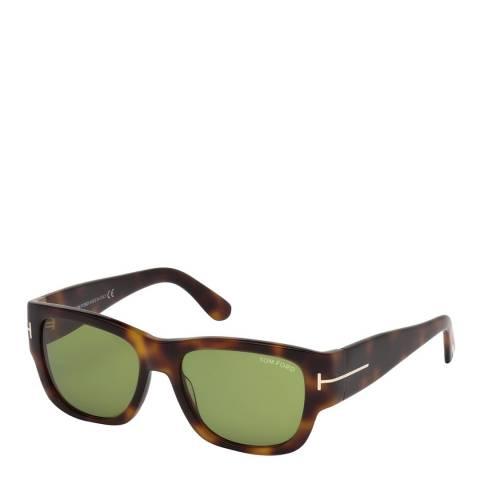 Tom Ford Men's Brown/Green Tom Ford Sunglasses 54mm