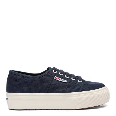 Superga Navy 2790 Linea Up and Down Flatform Sneakers