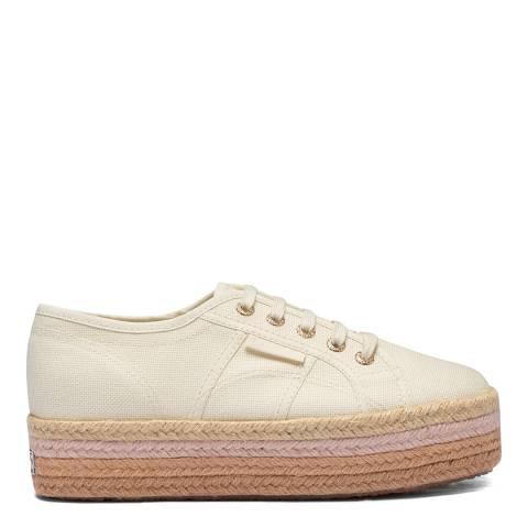 Superga Beige 2790 Colour Flatform Sneakers
